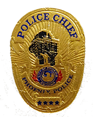 Phoenix PD Police Chief Foil Sample